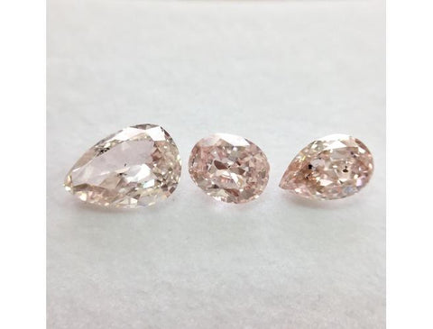 GIA Oval & Pear 1.86cttw. Fancy Orangy Pink Diamonds Parcel