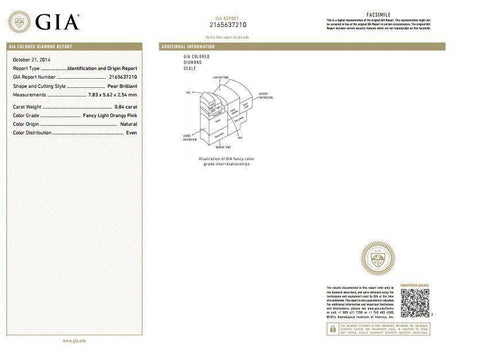 GIA Diamond Grading Report.