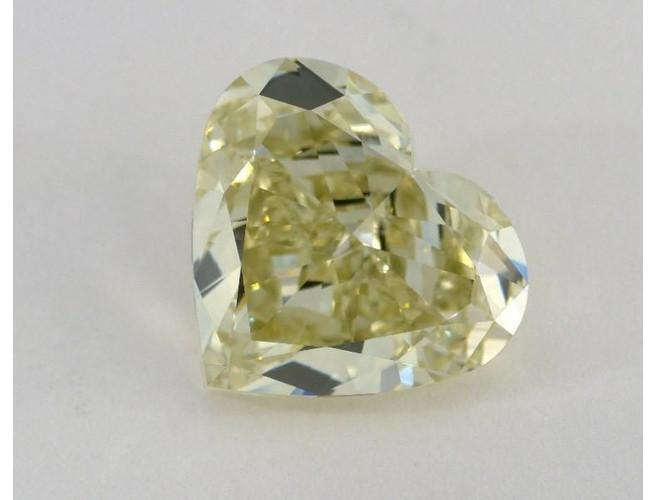 Heart 7.17ct Fancy Grayish Greenish Yellow VS1-ColorDiamondsNet
