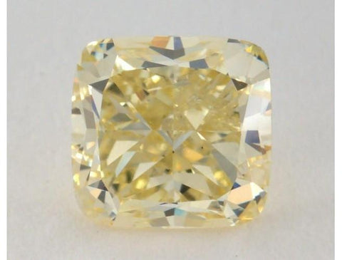 Cushion 1.81ct Fancy Light Yellow-ColorDiamondsNet