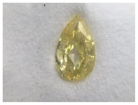 Pear 2.01 Carat Fancy Intense Yellow SI2-ColorDiamondsNet