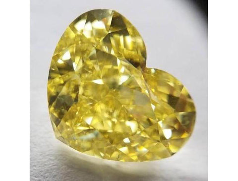 Heart Shape 10.01ct. Fancy Intense Yellow VS2-ColorDiamondsNet