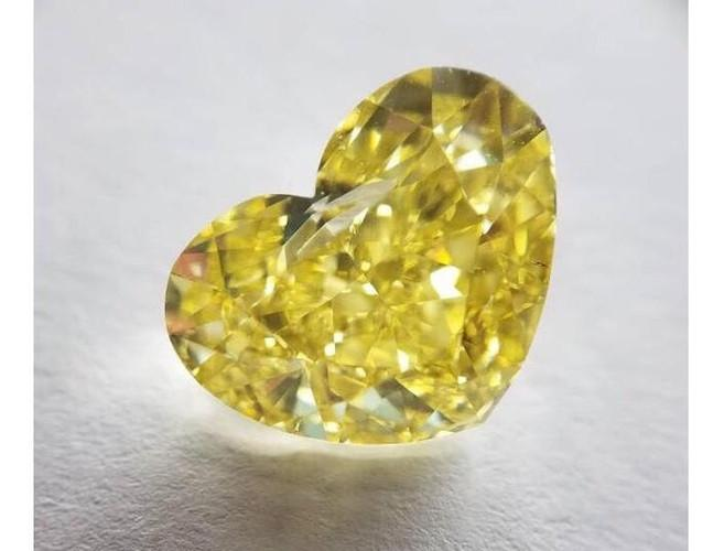 Heart 10.01ct. Fancy Intense Yellow VS2-ColorDiamondsNet