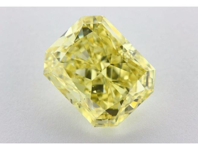 Radiant, 15.01 Carat, Fancy Intense Yellow, SI1, Natural Loose Color Diamond - ColorDiamonds.Net