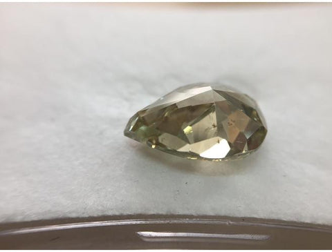 Pear, 6.74 Carat, Fancy Grayish Greenish Yellow, SI2. Natural Fancy Color Diamond, Color-Diamonds.Net