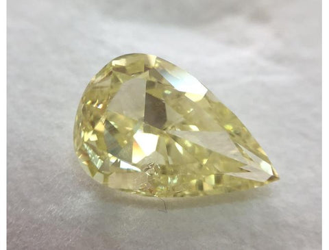Pear, 3.01 Carat, Fancy Intense Yellow. Natural Loose Fancy Color Diamond. DahanCollection.com