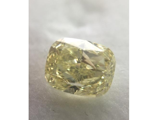 Cushion, 1.50 Carat, Fancy Yellow, VS2. Natural Loose Color Diamond. Color-Diamonds.Net