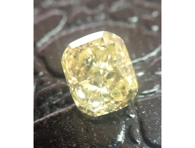 GIA Cushion 2.03ct. Fancy Yellow Diamond.