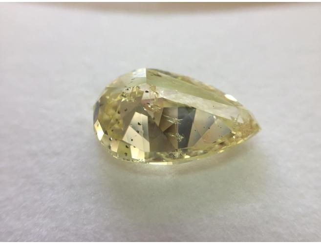 Pear, 10.06 Carat, Fancy Yellow. Natural Loose Yellow Diamond