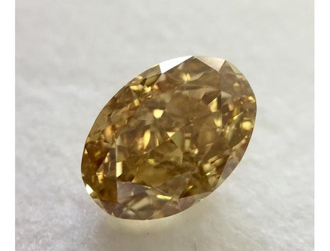 Oval, 1.71 Carat, Fancy Brown Yellow, VVS2. DahanCollection.Com
