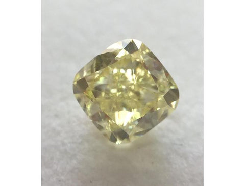 Cushion, 1.50 Carat, Fancy Yellow, VS1 Clarity Diamond. DahanCollection.Com