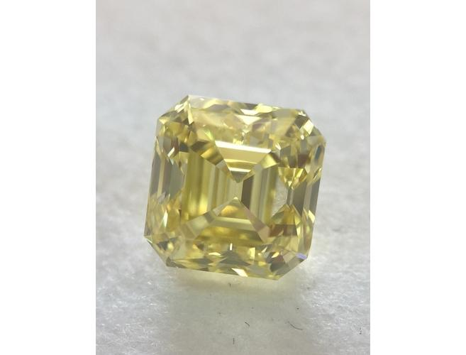 GIA Asscher 1.15ct. Fancy Intense Yellow VS2