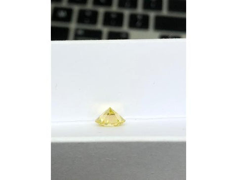Round, 1.91 Carat, Fancy Yellow, SI2. Natural Color Diamonds @ DahanCollection.Com