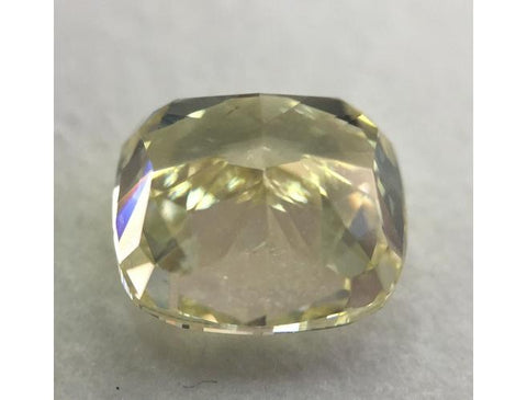 Cushion, 1.70 Carat, Fancy Light Yellow, VS1. Natural Diamond.