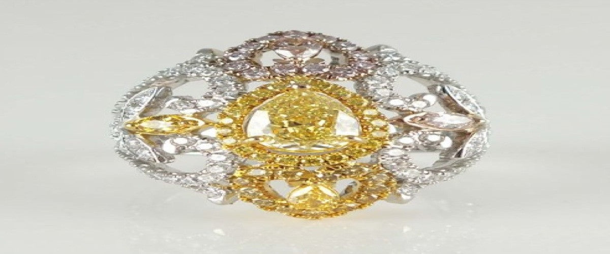Natural Yellow Diamond Ring-ColorDiamondsNet