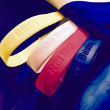 Debossed Rubber Wristbands - 4 Pack