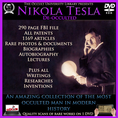 Rare Vintage Books on DVD Nikola Telsa Letters, Lectures, Photos, Declassified FBI files, Patents, Articles, Inventions and Documents