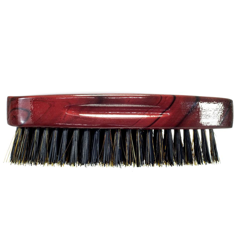 Royalty By Brush King Wave Brush #905-9 Row Medium Hard Pointy Palm- Patented 360 waves brush