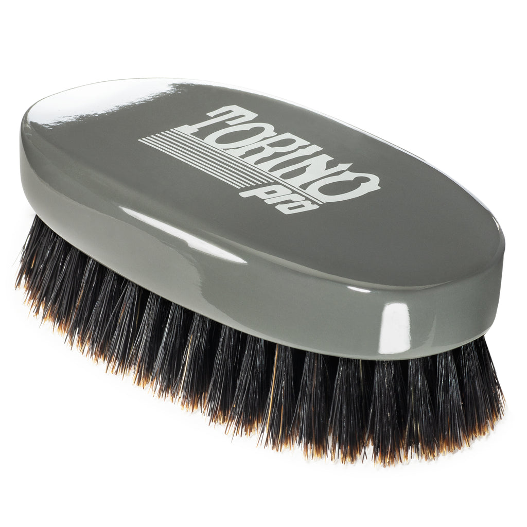(NEW) Torino Pro Wave Brush #1010 Firm Soft Oval Palm Brush for 360 Waves