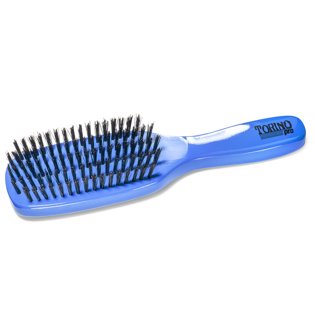(NEW) Torino Pro Wave Brush #1200 Hard 5 Row Long Handle Spacer Brush for 360 Waves