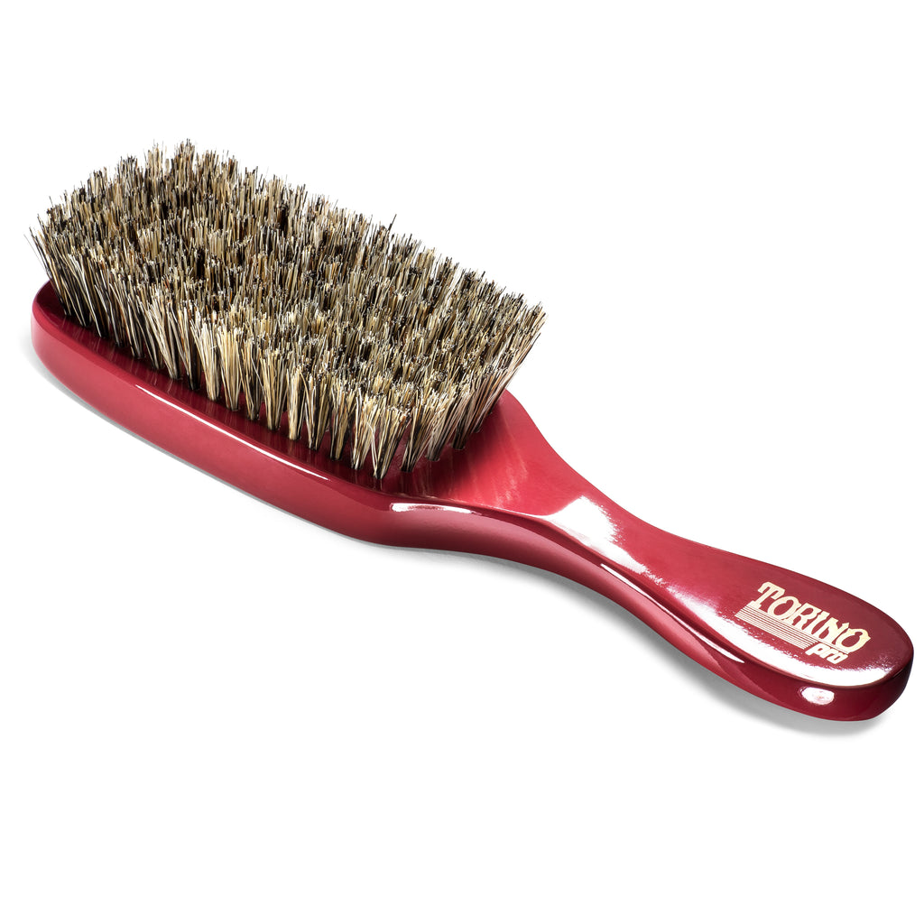(NEW) Torino Pro Wave Brush #1240 Soft 7 Row Long Handle Brush for 360 Waves