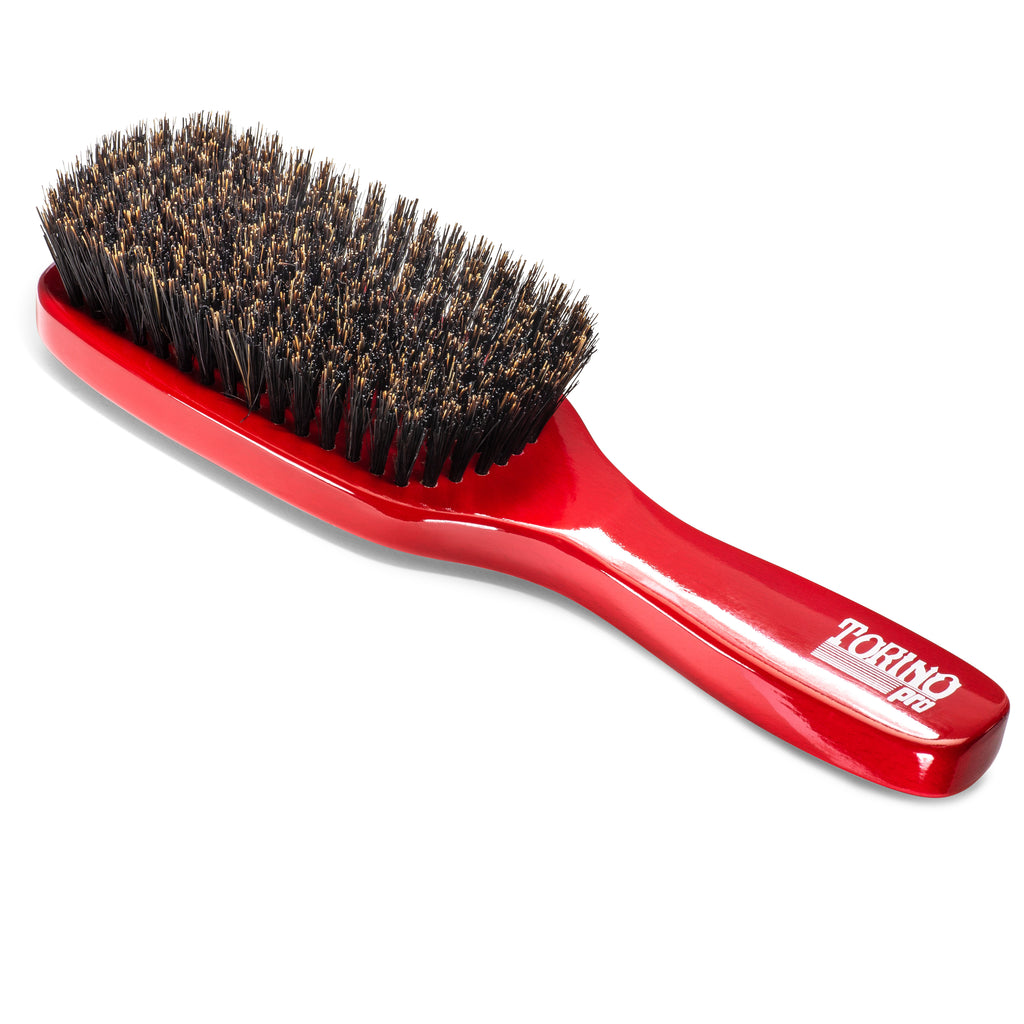 10 Row, Medium #1330 (NEW) Torino Pro - Long Handle Wave Brush with Extra Long Bristles for 360 Waves