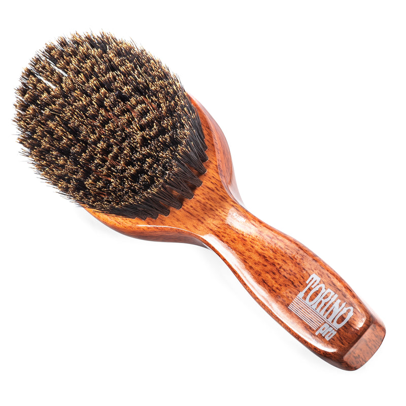 (NEW) Torino Pro Wave Brush #1140 Soft Oval Palm with Handle Brush for 360 Waves