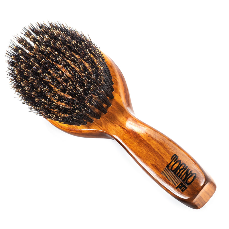 (NEW) Torino Pro Wave Brush #1170 Medium Oval Palm with Handle Brush for 360 Waves