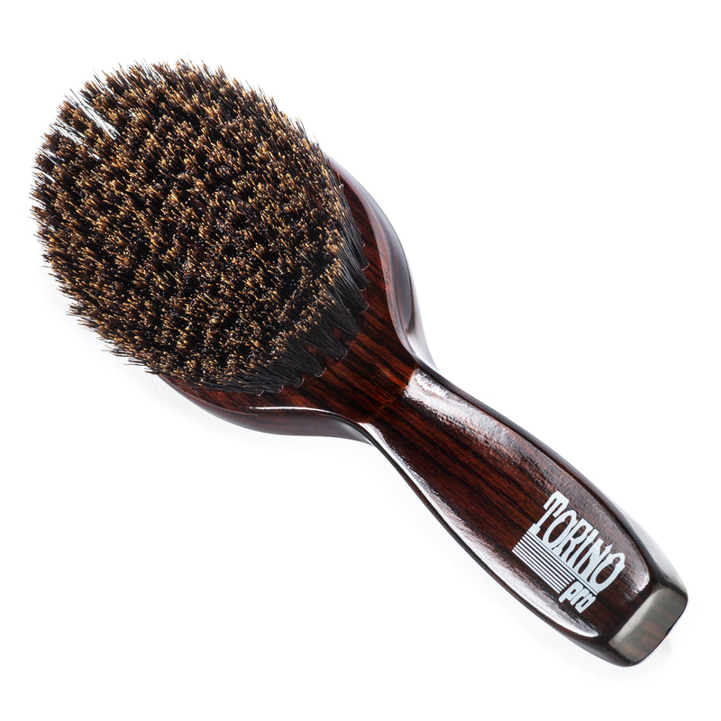 (NEW) Torino Pro Wave Brush #1160 Medium Soft Oval Palm with Handle Brush for 360 Waves