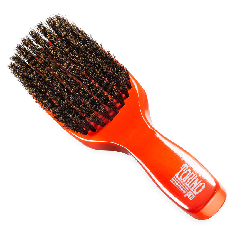 (NEW) Torino Pro Wave Brush #1310 Firm Soft 8 Row Long Handle Brush for 360 Waves