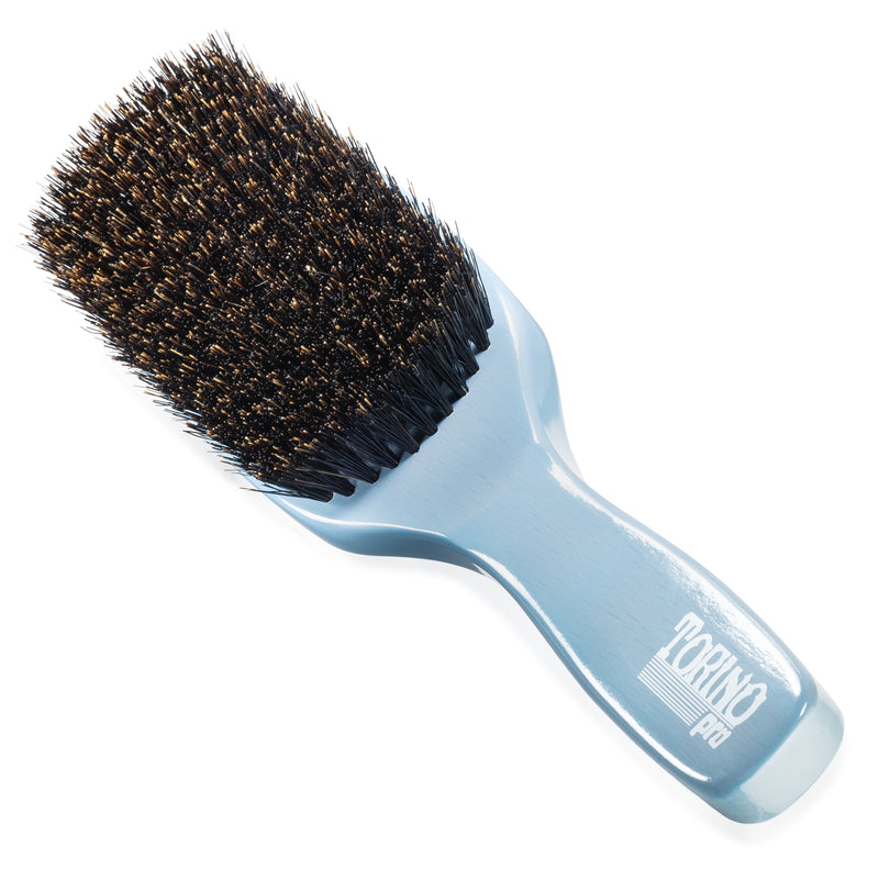 (NEW) Torino Pro Wave Brush #1340 Medium 11 Row Long Handle Brush with Extra Long Bristles for 360 Waves