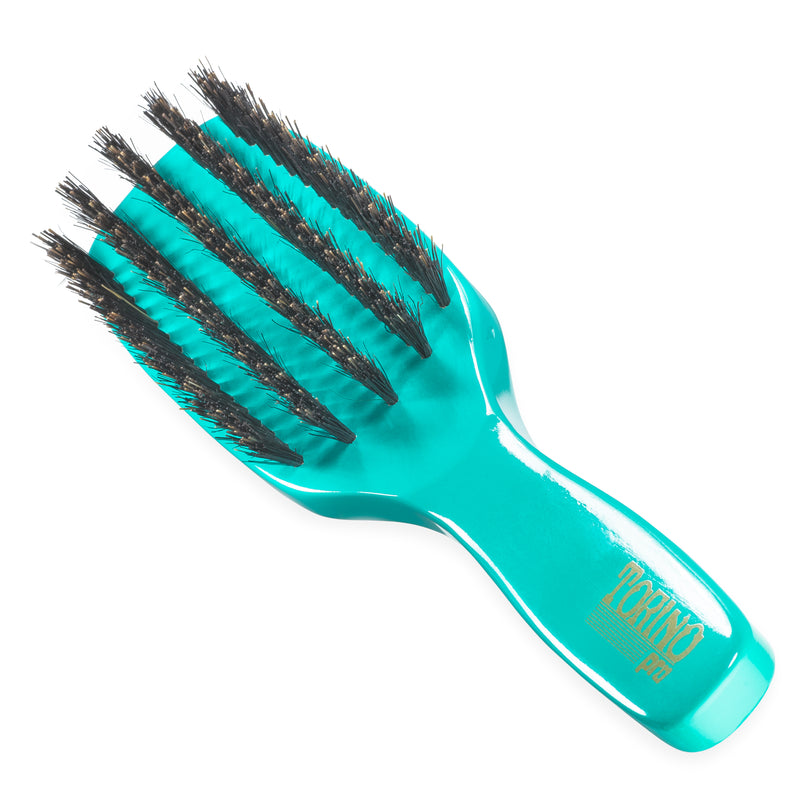 (NEW) Torino Pro Wave Brush #1210 Medium 5 Row Long Handle Spacer Brush for 360 Waves