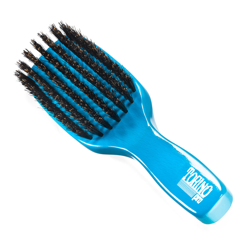 (NEW) Torino Pro Wave Brush #1250 Firm Medium 7 Row Long Handle Brush for 360 Waves