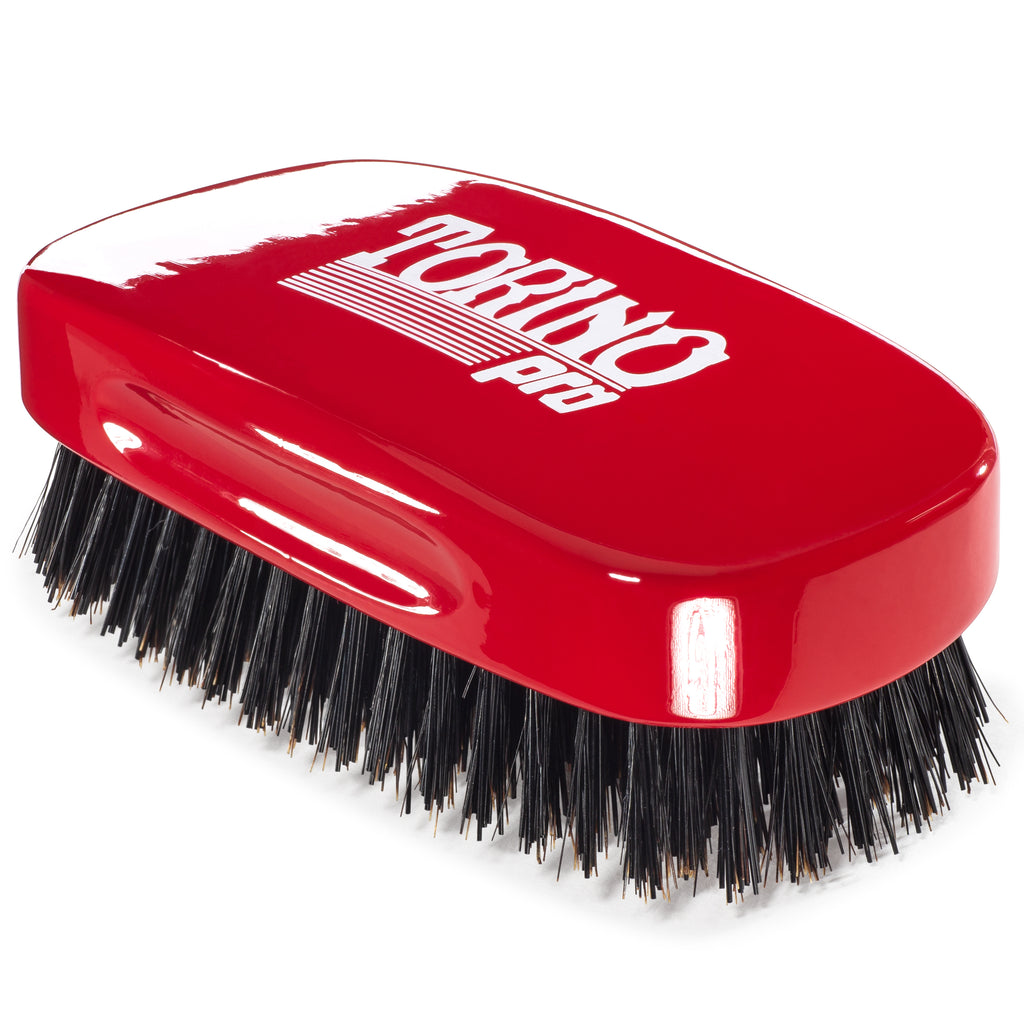 #1900 Torino Pro Hard 7 Row Palm Wave Brush By Brush King - - Hard 360 waves brush - Great for Wolfing - Great for coarse hair wavers - For 360 Waves