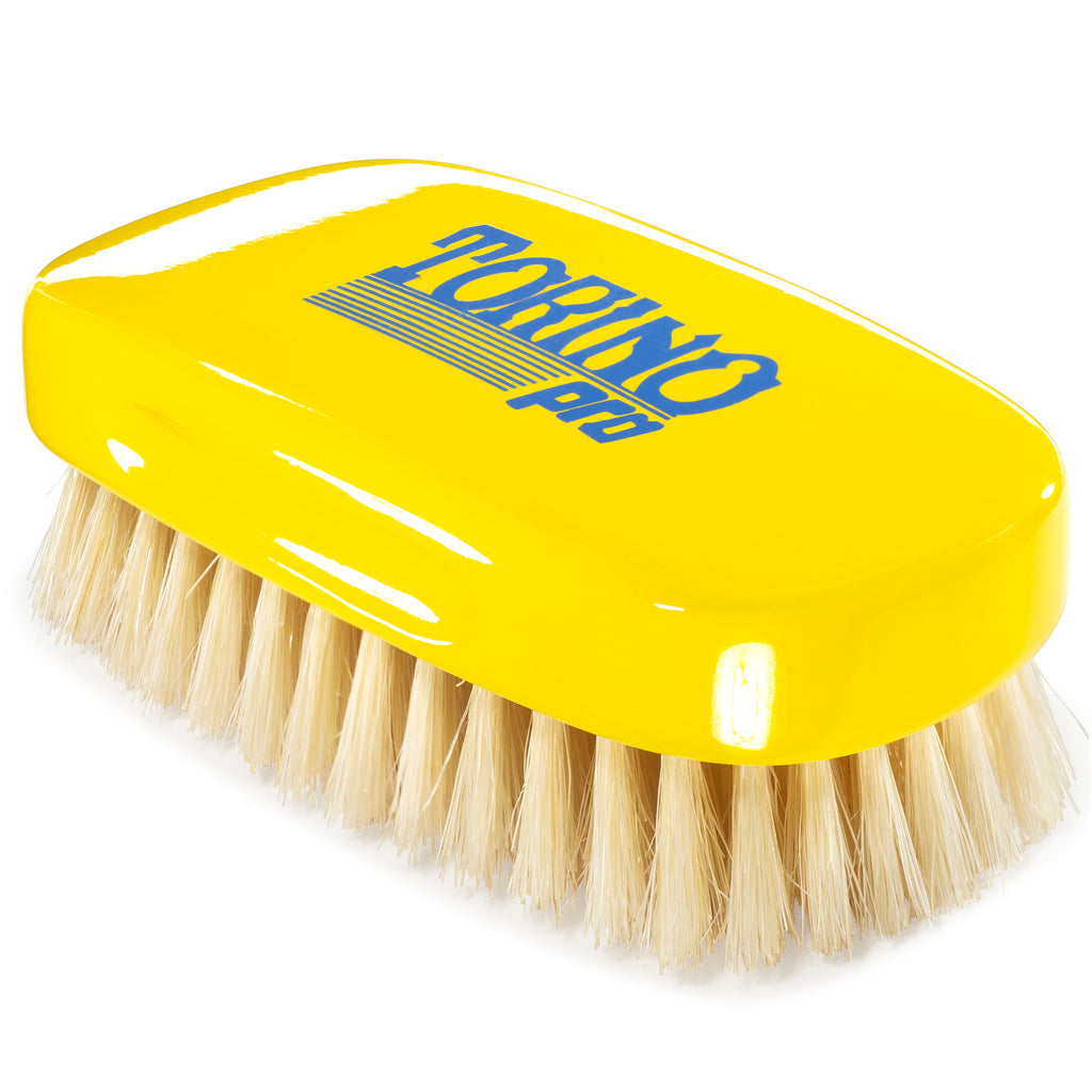 #1880 Torino Pro Soft 13 Row Palm Wave Brush By Brush King - Soft Palm great for laying down your waves - Great pull for a soft- Great for Connections and polishing - For 360 Waves