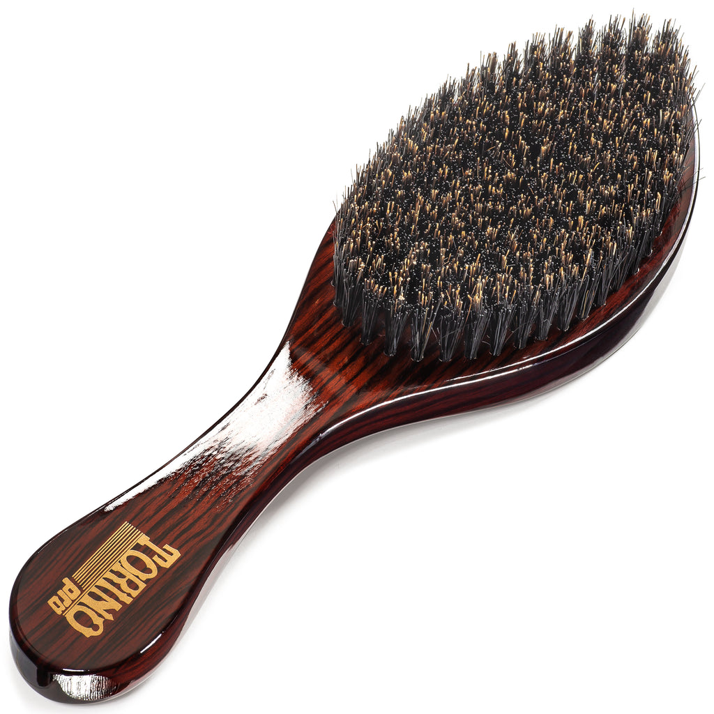 #1710 Torino Pro Medium Curve Wave Brush By Brush King - Firmest medium out of all mediums - 360 Curved Medium - Great for Wolfing and connections - For 360 Waves