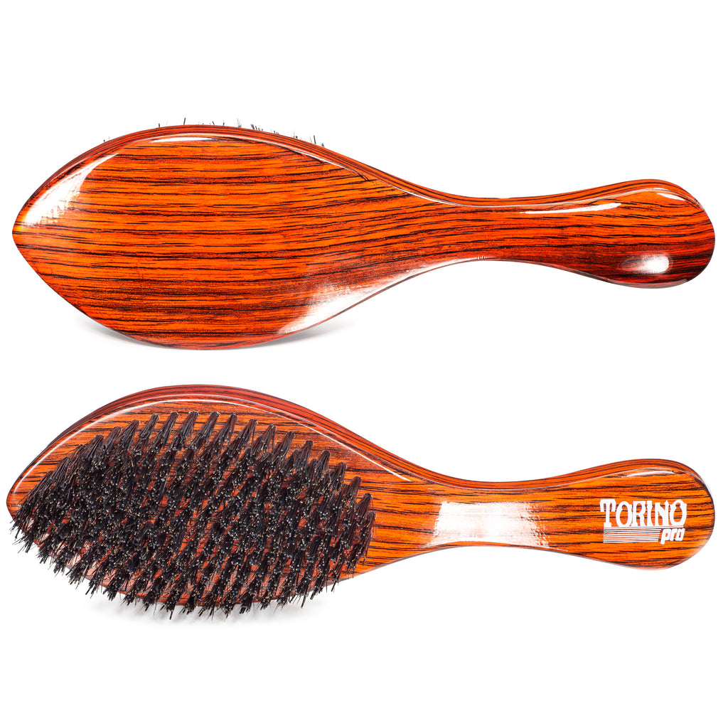 #1690 Torino Pro Hard Curve Wave Brush By Brush King  - 360 Curved Hard - Great for Wolfing - For 360 Waves - Great for coarse hair Wavers