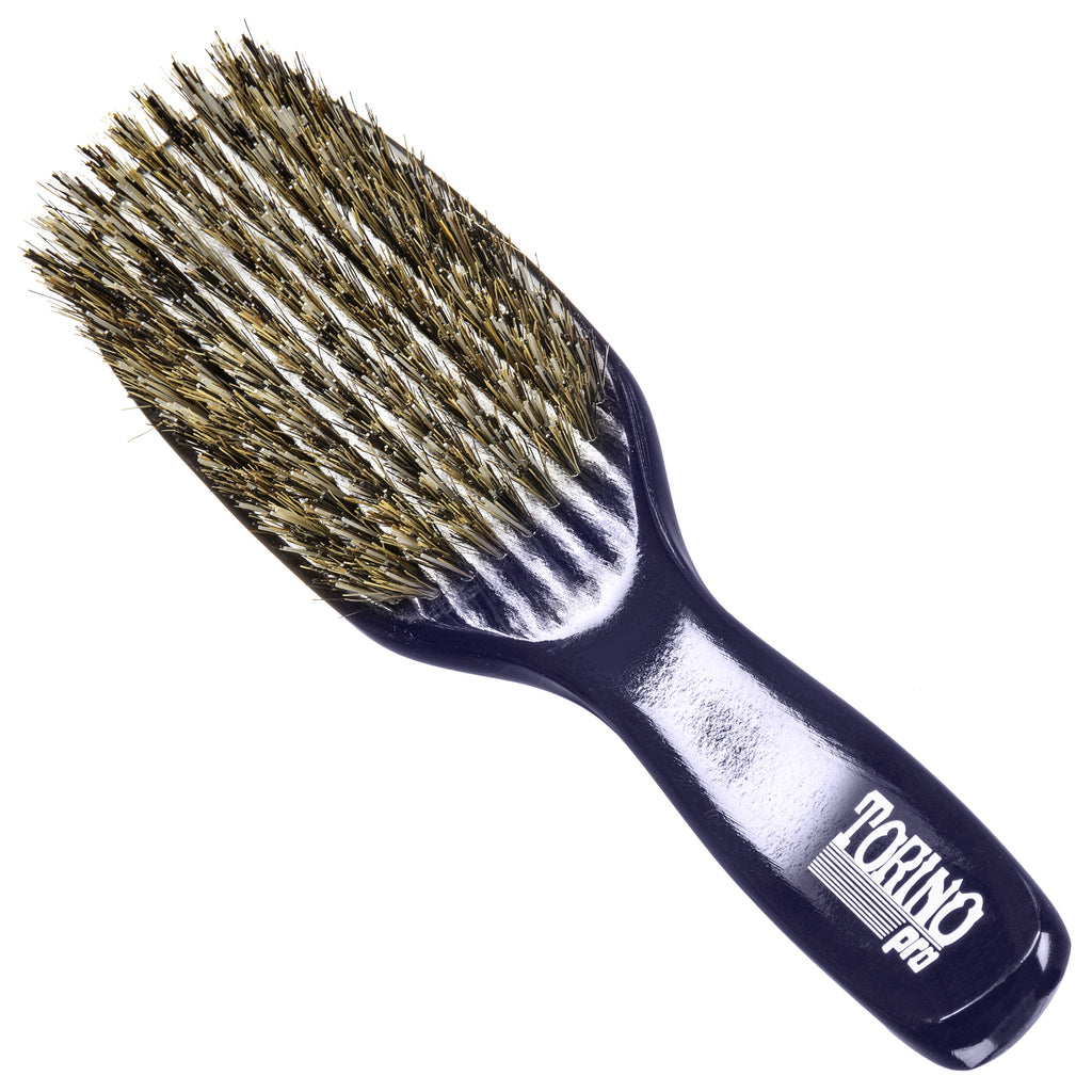 Torino Pro Wave Brush #0646 - Reinforced Medium Hard Long Handle Wave Brush for 360 waves