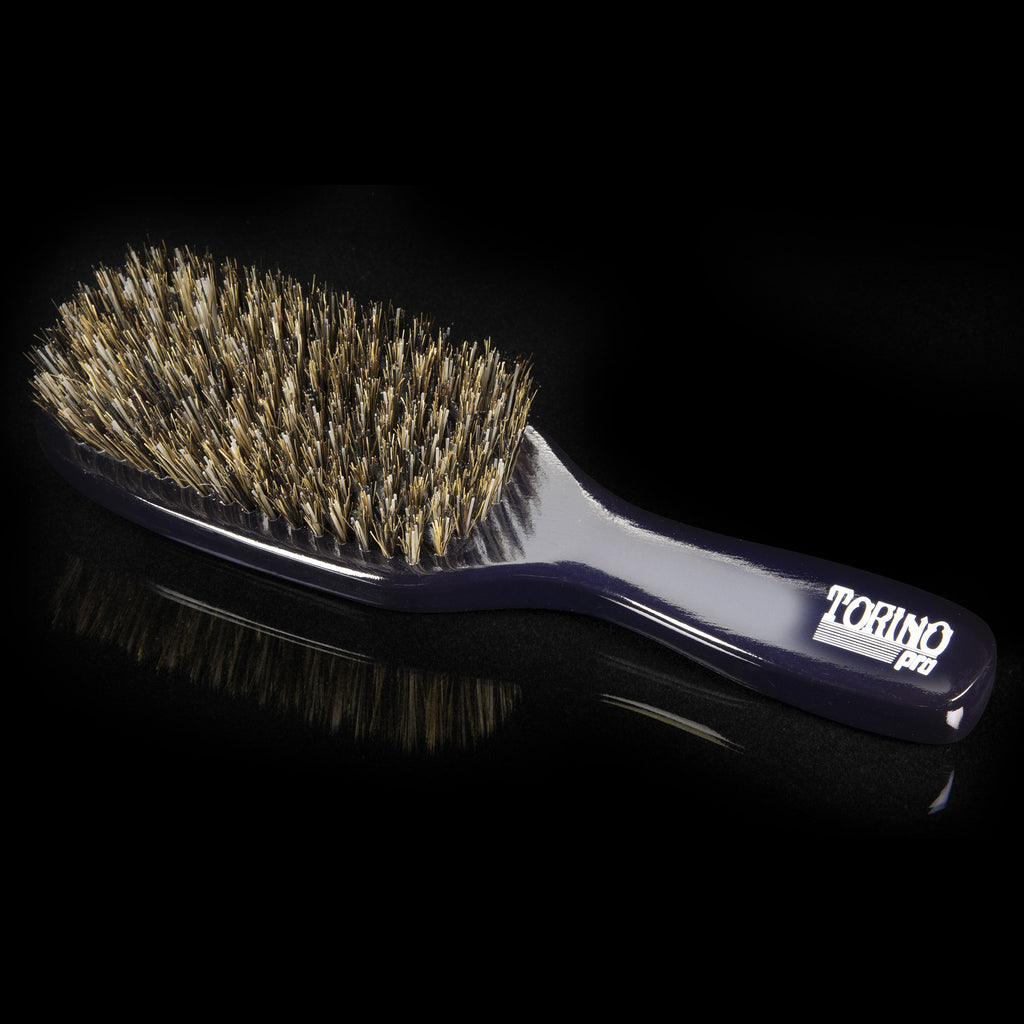 #0646 Torino Pro  - Reinforced Medium Hard Long Handle Wave Brush for 360 waves