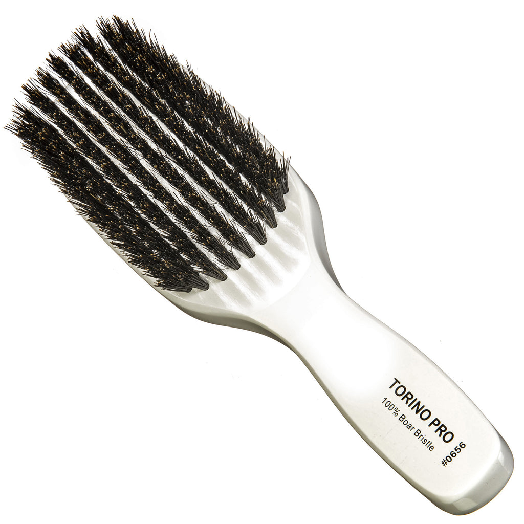 Torino Pro Wave brush #0656 - 9 Row Medium- Long Handle Wave Brush for 360 Waves