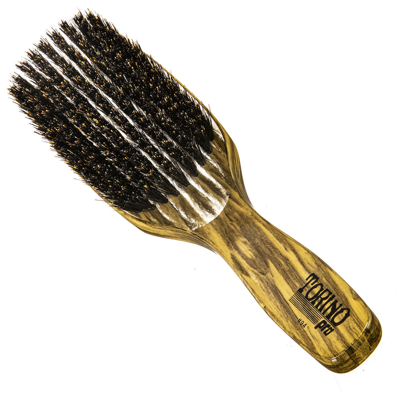 Torino Pro Wave Brushes By Brush King #94-9 Row Firm Medium - 100% boar bristles