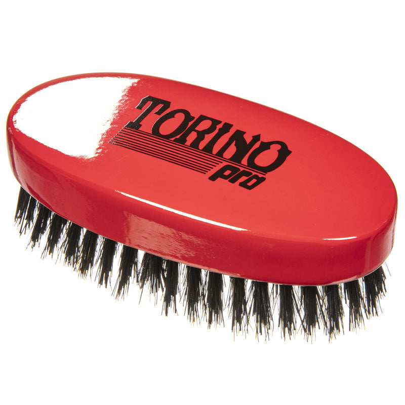 Torino Pro Wave Brush #1000 - Oval Palm Medium Hard  - Military Wave Brush for 360 Waves