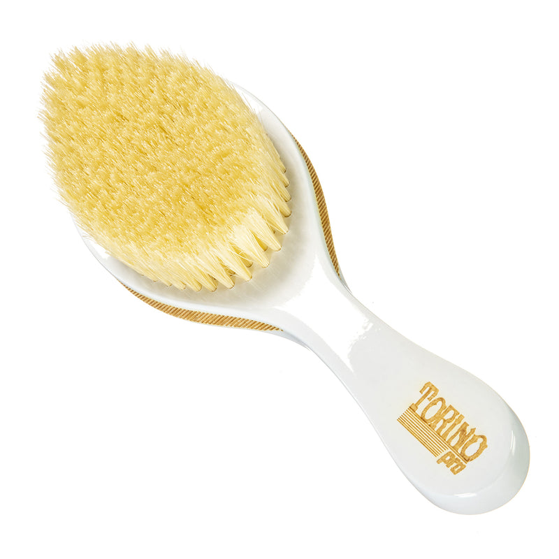 Torino Pro Wave brush #105 - 360 Curved Medium Brush- 100% Pure Boar Bristles