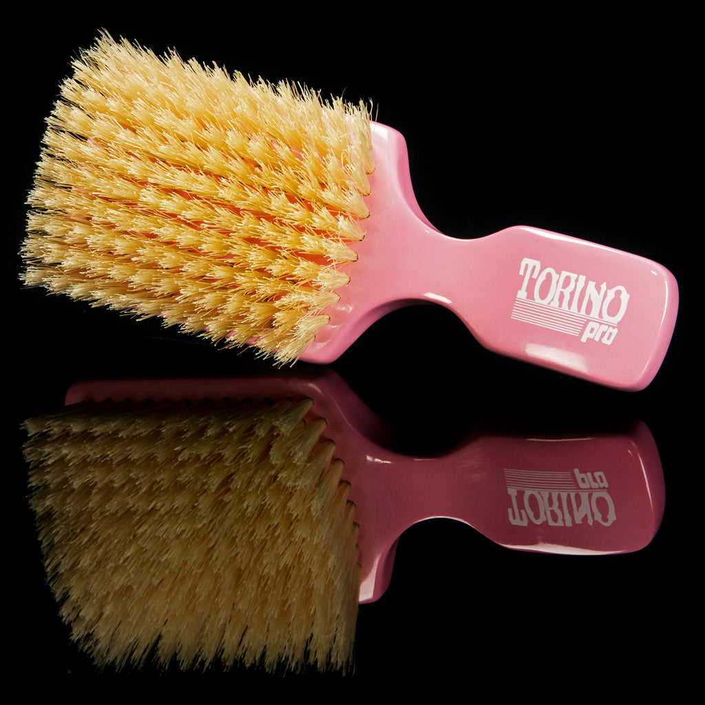 Torino Pro Wave Brush #106 - 10 Row Soft Club Brush- 100% Extra Long Pure Boar Bristles
