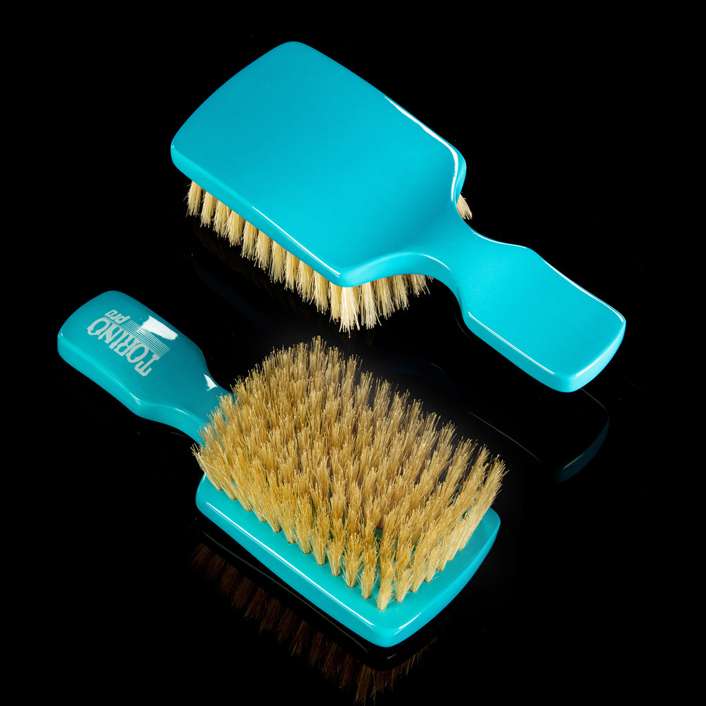 Torino Pro Wave Brush #107- 10 Rows Soft Club- 100% Pure Boar Bristles