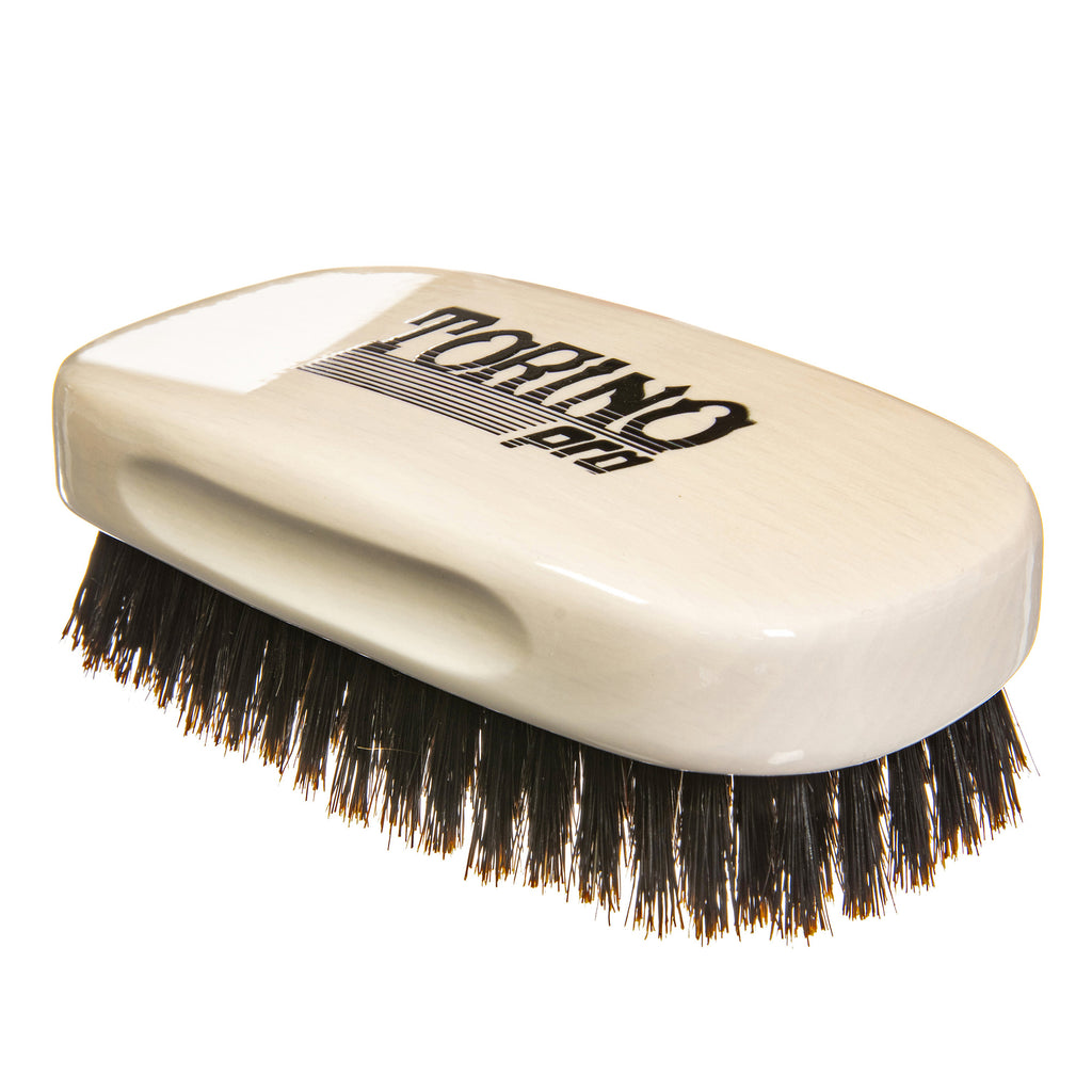 Torino Pro Wave Brush #110- 7 Row Square Soft Palm Brush - 100% Pure Boar Bristles