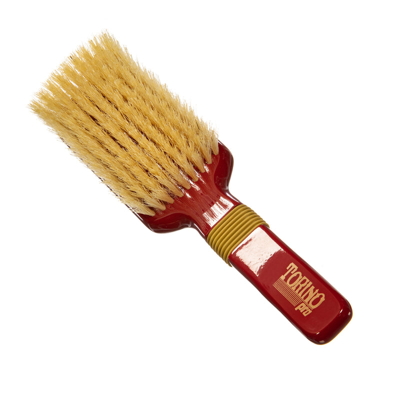 Torino Pro Wave Brush #111- Soft Rubber Grip 9 Rows- 100% Pure Boar Bristles