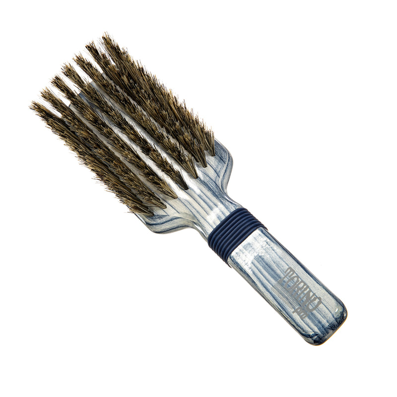 Torino Pro Wave Brush #112 - Soft Rubber Grip 7 Rows- 100% Pure Soft Boar Bristles