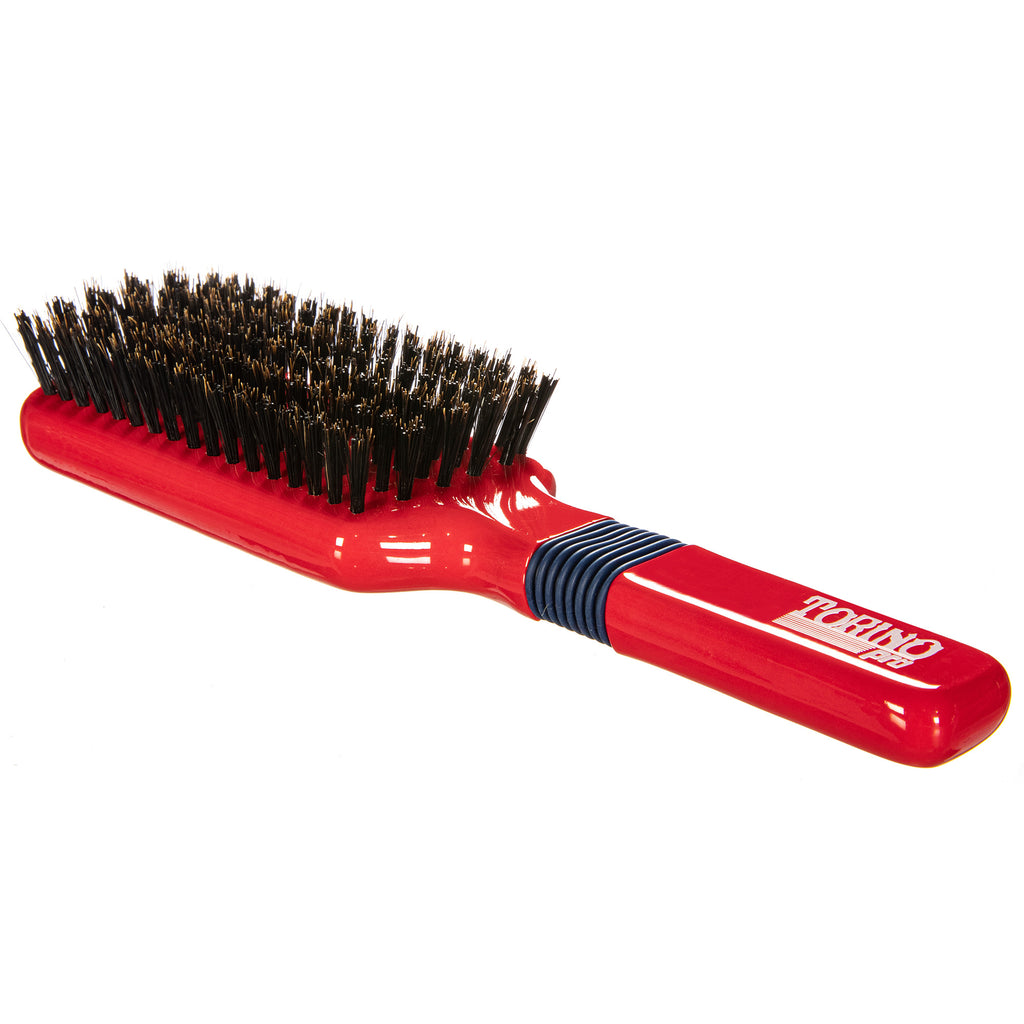Torino Pro Wave Brush #113  Rubber Grip 6 Rows Medium Hard