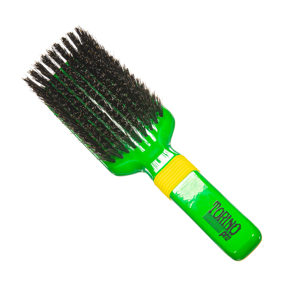 Torino Pro Wave Brush #117- Rubber Grip 9 Rows Hard- Extra long Reinforced Bristles